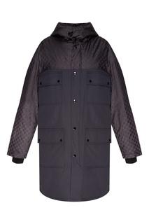 Удлиненная куртка с монограммами GG Gucci Man