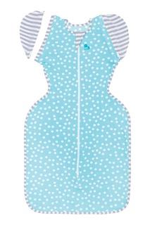 Голубая пеленка-кокон в горошек Swaddle UP™ 50/50 Love To Dream