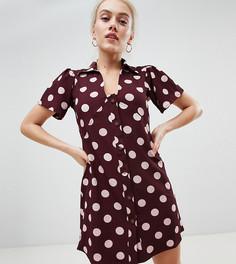 Чайное платье в горошек Vero Moda Petite - Мульти