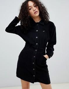 Вельветовое платье в стиле вестерн Wrangler - Черный
