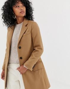 Узкое пальто с добавлением шерсти Gloverall Chesterfield - Рыжий