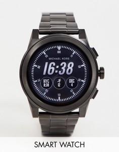 Мужские смарт-часы с черным циферблатом Michael Kors MKT5029 - Черный