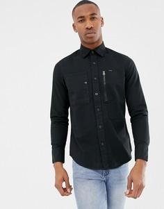 Черная приталенная рубашка G-Star Powel - Черный