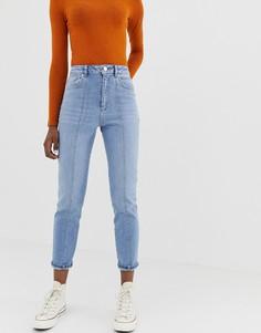 Узкие джинсы в винтажном стиле с завышенной талией ASOS DESIGN Farleigh - Синий