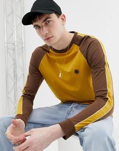 Футболка горчичного цвета с рукавами реглан Pretty Green - Желтый