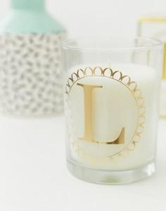 Свеча с ароматом клементина и зеленого чая Candlelight - Белый