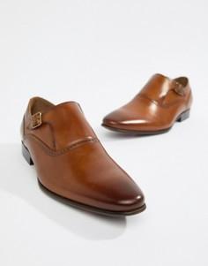 Светло-коричневые кожаные монки ALDO Qerrasen - Рыжий