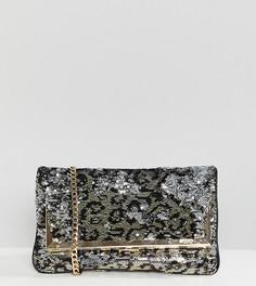 Клатч с откидным клапаном и леопардовым рисунком из пайеток ALDO Conga -  Мульти e5fda5112bb