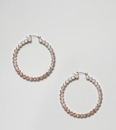 Серьги-кольца с отделкой ALDO - Золотой