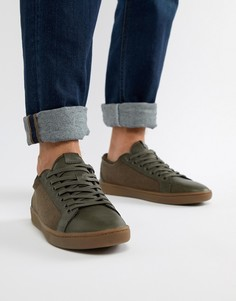 Кроссовки цвета хаки в стиле ретро Aldo Sigrun - Зеленый