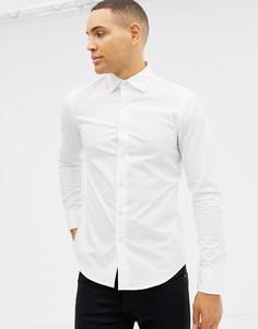 Белая зауженная рубашка G-Star - Белый