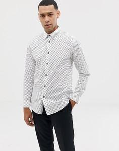 Белая рубашка в горошек Ted Baker - Белый