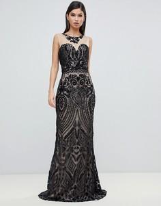 Платье макси с вырезом сердечком Forever Unique - Черный