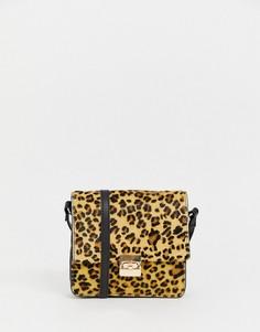 Сумка через плечо с леопардовым принтом и ремешком-цепочкой Urbancode - Коричневый