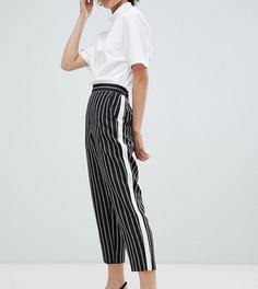 Суженные книзу брюки с контрастными вставками сбоку ASOS DESIGN Petite - Мульти