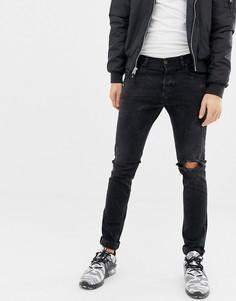Темные джинсы скинни Diesel Tepphar - Синий