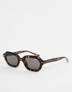 9aca56f7c2f1 Солнцезащитные очки в квадратной черепаховой оправе Quay Australia -  Коричневый