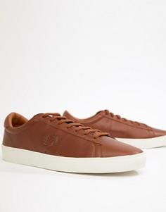 Вощеные кожаные кроссовки светло-коричневого цвета Fred Perry Spencer - Рыжий