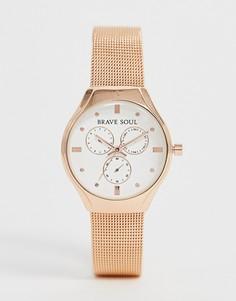 Женские часы с хронографом Brave Soul - Розовый