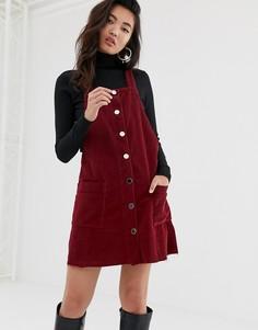 Вельветовое платье-сарафан River island yasmin - Красный