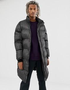 Черная дутая куртка Pull&Bear - Черный