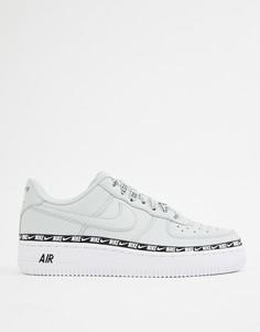Серебристые кроссовки с логотипом-галочкой Nike Air Force 1 - Серебряный