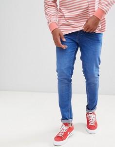 Синие эластичные джинсы слим Solid - Синий !Solid