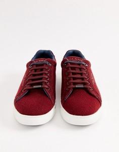 Бордовые кроссовки Ted Baker Werill - Красный