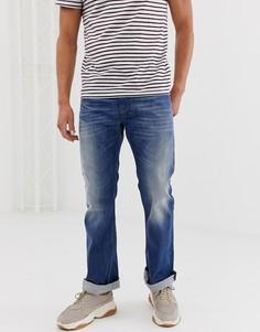 Светлые джинсы с легким клешем Diesel Zatiny 08XR - Синий