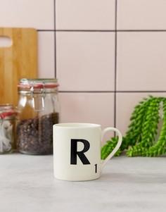 Кружка с буквой R Scrabble - Белый
