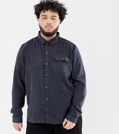 Рубашка в крапинку Another Influence PLUS - Темно-синий