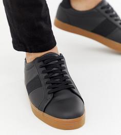 Черные кроссовки для широкой стопы с резиновой подошвой ASOS DESIGN - Черный
