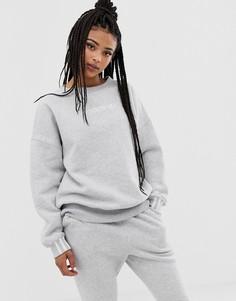 Серый флисовый свитшот adidas Originals Coeeze - Серый