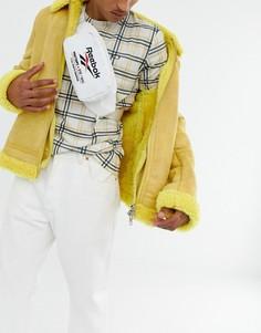 Белая сумка-кошелек на пояс с вышивкой и логотипом Reebok - Белый