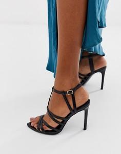 Босоножки на каблуке острым носком ASOS DESIGN High Maintenance - Черный