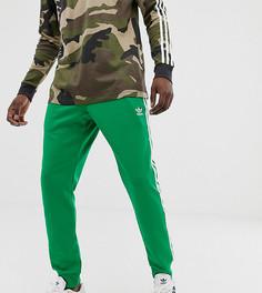Зеленые зауженные джоггеры с 3 полосками и кромкой манжетом adidas Originals - Зеленый