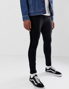 8997ad82783 Супероблегающие джинсы с бархатными полосками New Look - Черный