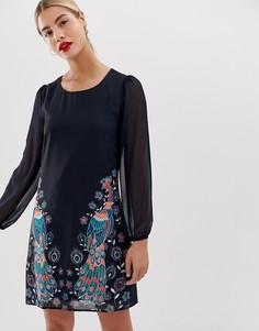 Свободное платье с принтом Yumi - Мульти