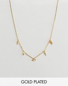 Золотистое ожерелье с подвесками Orelia - Золотой