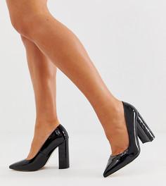 Черные туфли для широкой стопы на каблуке River Island - Черный