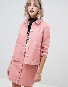 Куртка для работы с контрастными строчками Maison Scotch - Розовый