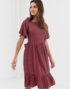 Платье с широкими рукавами и оборкой Closet - Мульти