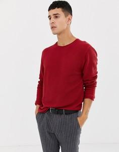 Красный джемпер с круглым вырезом Selected Homme - Красный