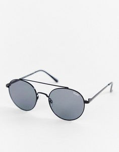 Черные круглые солнцезащитные очки Quay Australia Outshine - Черный