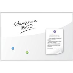 Доска магнитно-маркерная стеклянная BRAUBERG белая, 40х60, 3 магнита, 236744