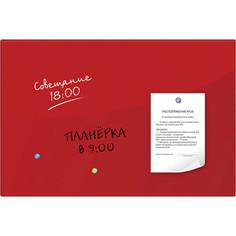 Доска магнитно-маркерная стеклянная BRAUBERG красная, 60х90, 3 магнита, 236749