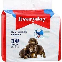 Впитывающие пеленки EVERYDAY приучающие гелевые для животных 60х45см 30шт