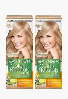 """Краска для волос Garnier """"Color Naturals"""", оттенок 9.1, Солнечный пляж, 2 шт"""