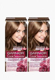 """Краска для волос Garnier """"Color Sensation, Роскошь цвета"""",оттенок 6.0,Роскошный темно-русый, 2 шт. """"Color Sensation, Роскошь цвета"""",оттенок 6.0,Роскошный темно-русый, 2 шт."""