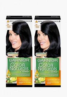 """Краска для волос Garnier """"Color Naturals"""", оттенок 1+, Ультра черный, 2 шт"""